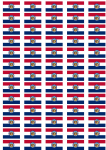 Missouri Flag Stickers - 65 per sheet